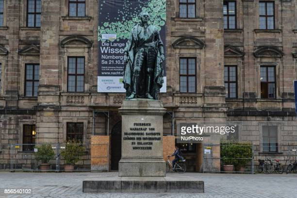 Friedrich Markgraf von Brandenburg Bayreuthm founder of the University of Erlangen city Germany on September 30 2017