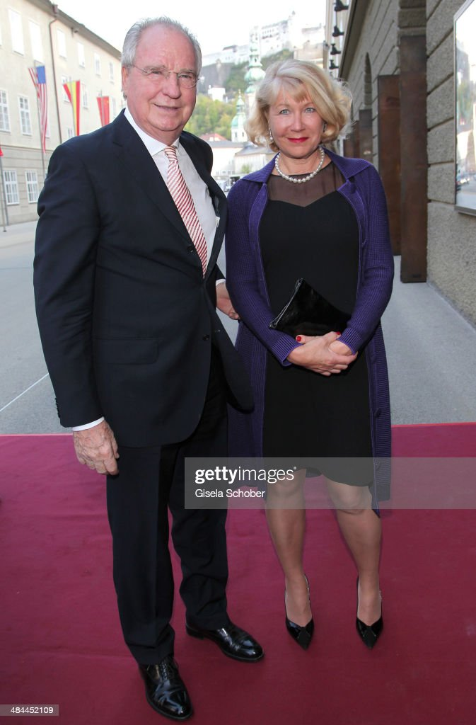 Friedrich von Thun and guest attend the opening of the easter festival 2014 (Osterfestspiele) on April 12, 2014 in Salzburg, Austria.