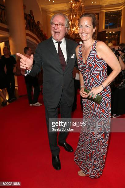 Friedrich von Thun and his daughter Gioia von Thun during the opening night party of the Munich Film Festival 2017 at Hotel Bayerischer Hof on June...