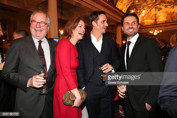Friedrich von Thun with his daughter Gioia von Thun and son Max von Thun and Simon Verhoeven during the Bavarian Film Award 2016 at...