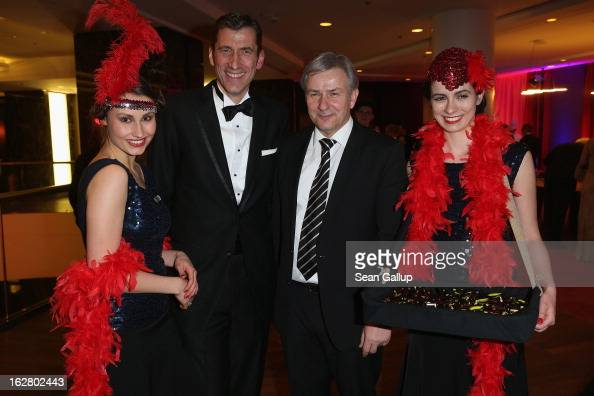 Friedrich W Niemann and Klaus Wowereit attend the grand opening of the Waldorf Astoria Berlin hotel on February 27 2013 in Berlin Germany