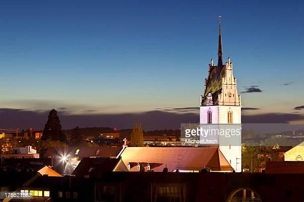 Friedrichshafen Nikolaus Kirche bei Nacht