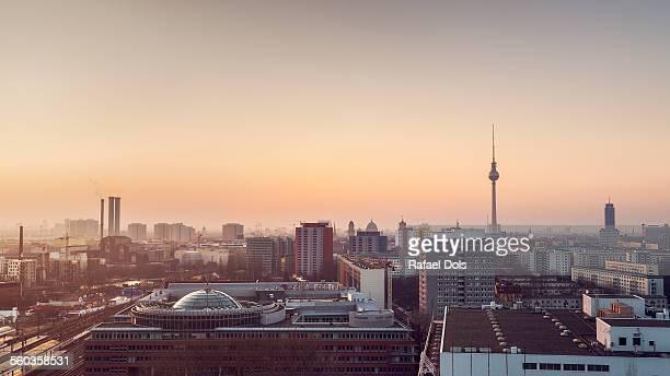 Friedrichshain cityscape, Berlin, Germany
