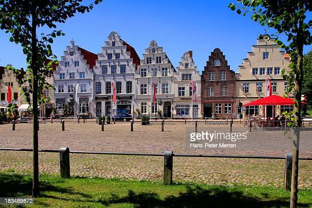 Friedrichstadt, North Frisia, market square
