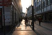 Friedrichstrasse near the Marktplatz a square originated in the 11th century in Bonn Germany 08 September 2014 Bonn that offers many touristic...