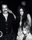 Friend Joe De Carlo Cher and Chasity Bono during Cher Returns to Los Angeles from Hawaiian Performance with Sonny Bono March 20 1977 at Los Angeles...