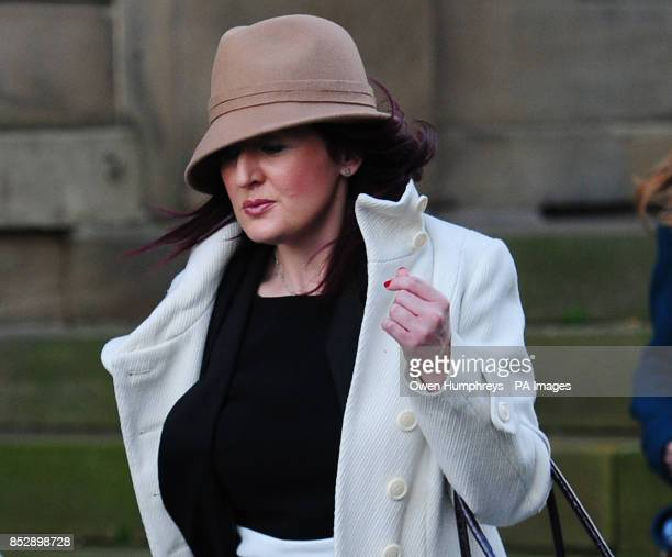 Friend of Pc David Rathband Lisa French leaves Moot Hall in Newcastle after attending the inquest into his death