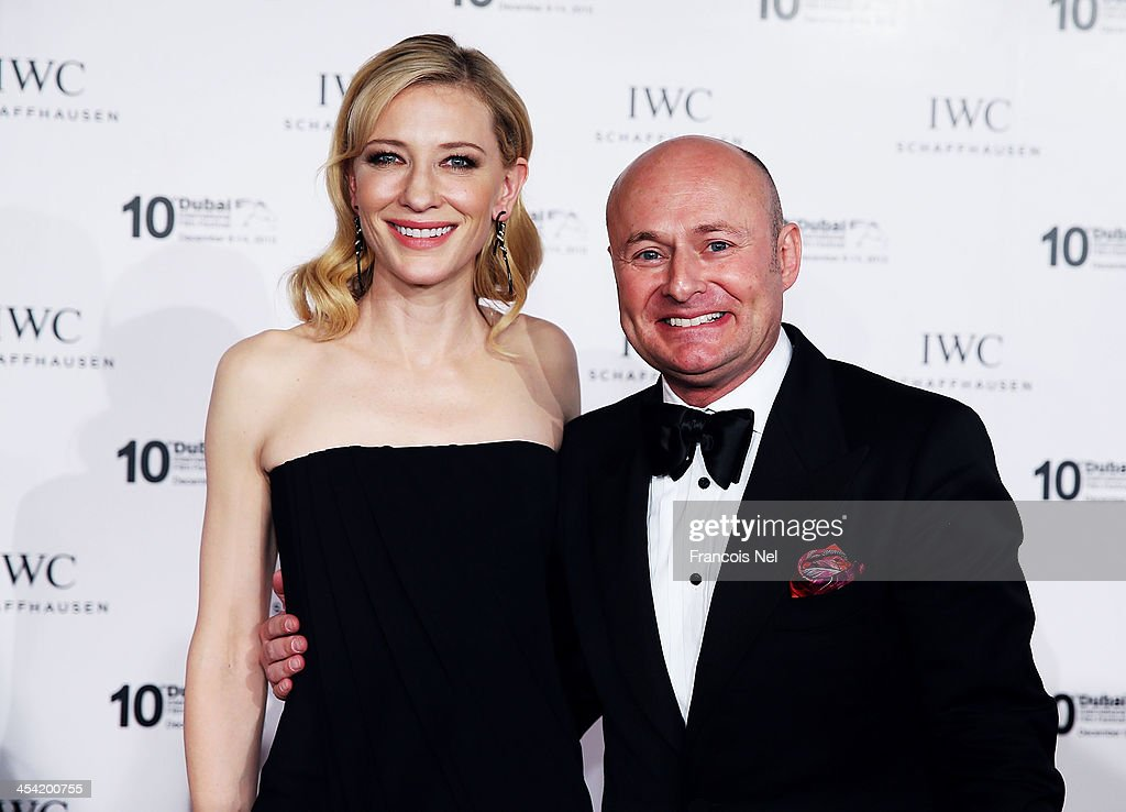 Friend of the Brand and Head of the Jury <a gi-track='captionPersonalityLinkClicked' href=/galleries/search?phrase=Cate+Blanchett&family=editorial&specificpeople=201621 ng-click='$event.stopPropagation()'>Cate Blanchett</a> and IWC CEO <a gi-track='captionPersonalityLinkClicked' href=/galleries/search?phrase=Georges+Kern&family=editorial&specificpeople=623163 ng-click='$event.stopPropagation()'>Georges Kern</a> attend the FOR THE LOVE OF CINEMA IWC Filmmakers Award 2013 at One And Only Royal Mirage on December 7, 2013 in Dubai, United Arab Emirates.
