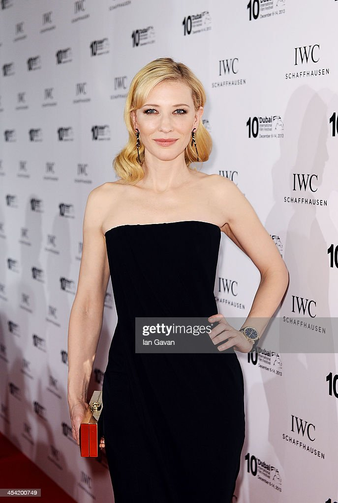 Friend of the Brand and Head of the Jury Cate Blanchett attends the IWC Schaffhausen FOR THE LOVE OF CINEMA IWC Filmmakers Award 2013 at One And Only Royal Mirage on December 7, 2013 in Dubai, United Arab Emirates.