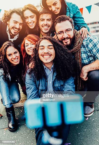 Ami Selfie sur le toit