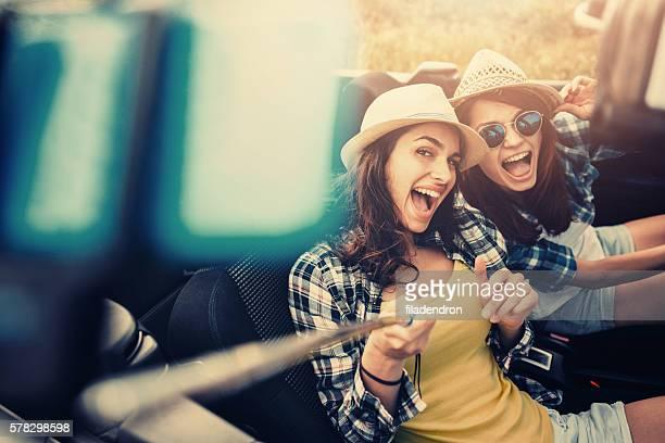 Friend Selfie With a Selfie Stick