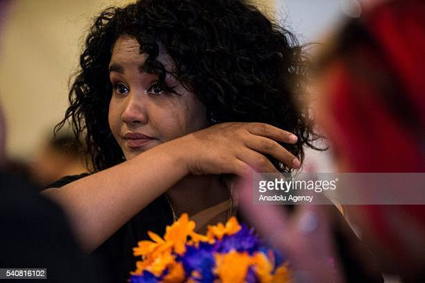 A friend wipes tears from her cheek during the funeral service for Eric Ivan OrtizRivera who was murdered in the Pulse nightclub shooting at a...