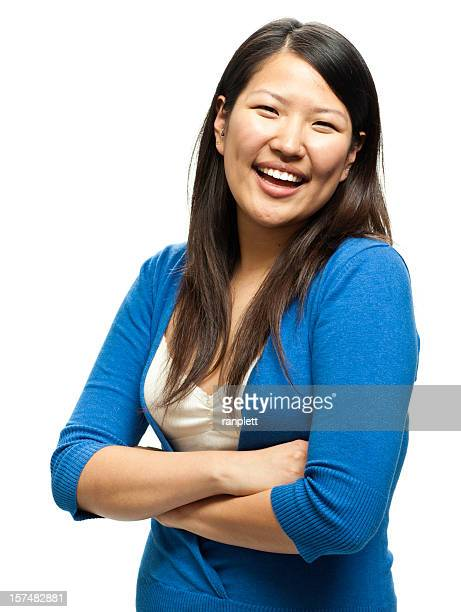 Friendly Asian Woman Isolated