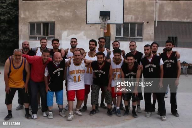 Friendly basketball match between Douma team and Erbeen team in Douma Syria 13 October 2017 Douma and Erbeenare are two cities besieged inside...