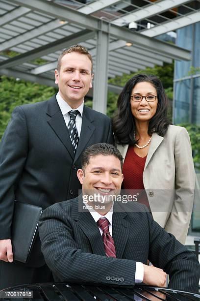 Friendly diverse business team