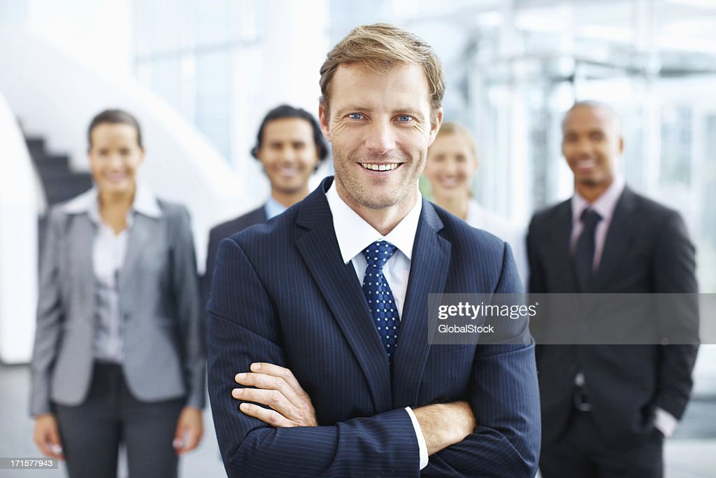 Friendly face of the company : Stock Photo