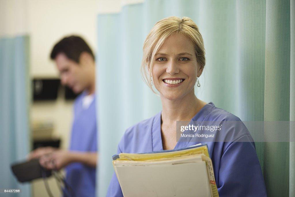 Friendly Female Nurse : Stock Photo