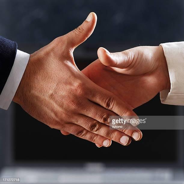 friendly handshaking