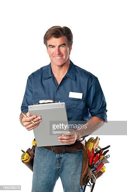 Friendly Handyman With Clipboard