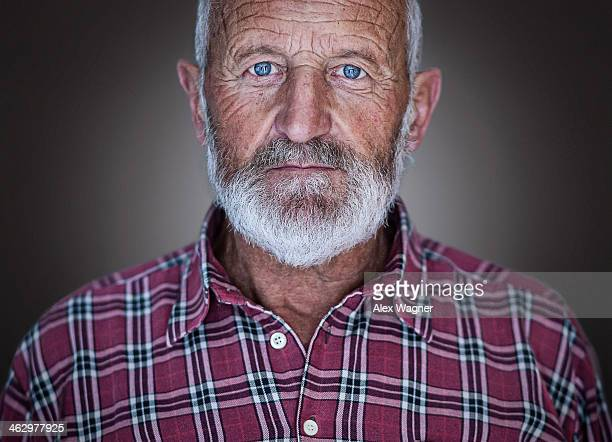 Friendly looking older man
