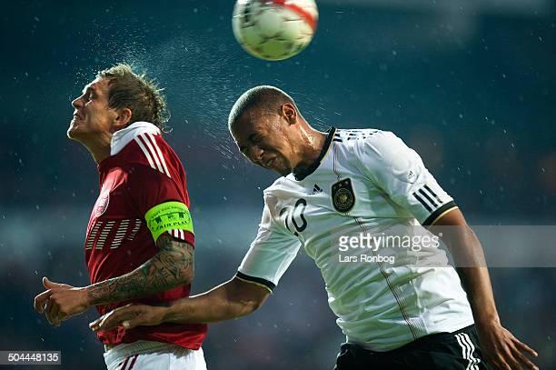 Friendly Match Daniel Agger Danmark / Denmark Jerome Boateng Tyskland Germany © Lars Rønbøg / Frontzonesport