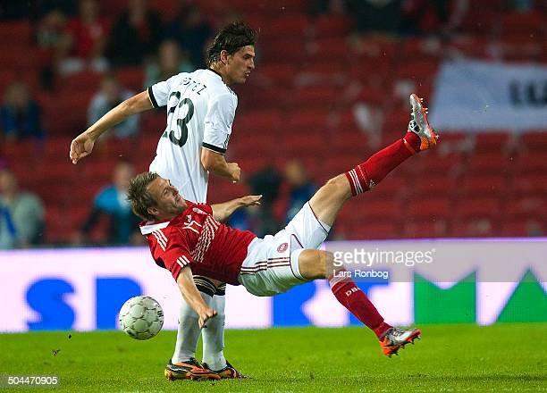 Friendly Match Michael Silberbauer Danmark / Denmark Mario Gomez Tyskland Germany © Lars Rønbøg / Frontzonesport