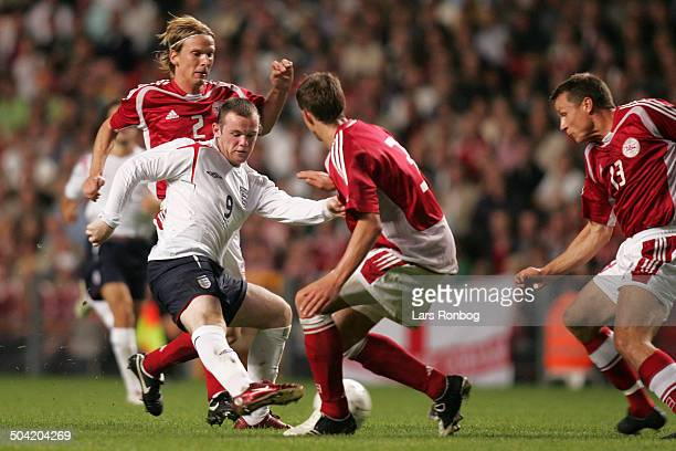 Friendly Match Wayne Rooney England Christian Poulsen Daniel Agger Michael Gravgaard Danmark