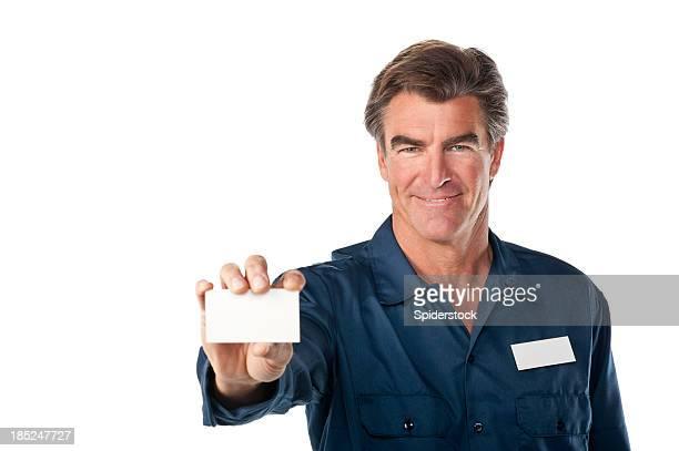 Friendly Repairman In Uniform