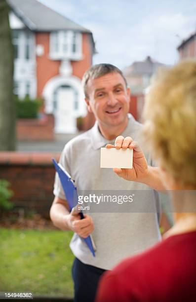 Friendly salesman