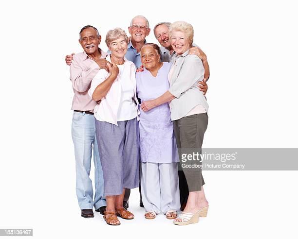 Friendly seniors together