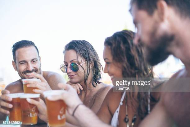Friends and beer