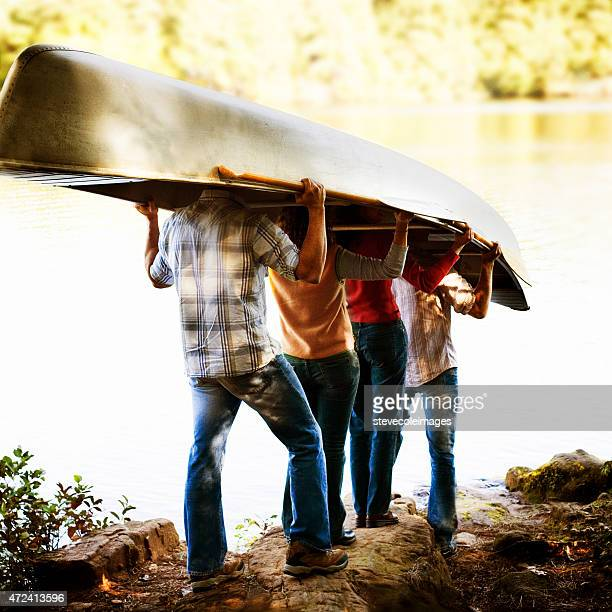 Friends and Canoe
