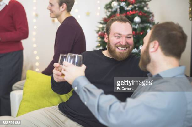 LGBT friends and companions at party