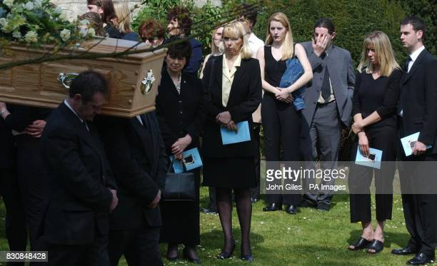 Friends and family attend the funeral of 19yearold Caroline Stuttle at All Saints Church Huntington in York Caroline was sharing a backpacking...