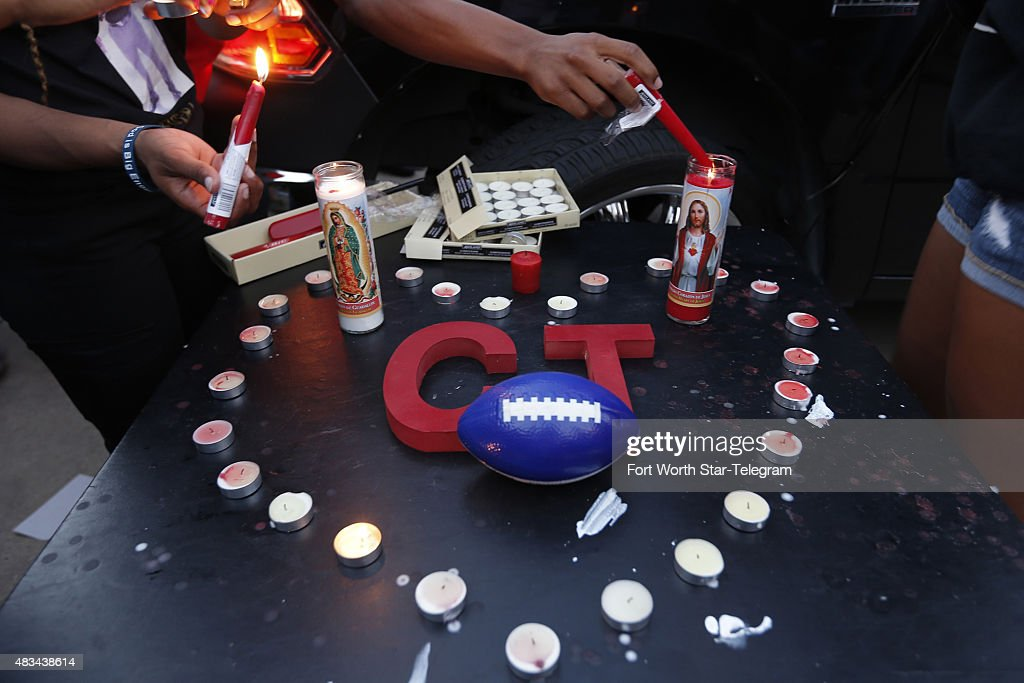 Friends and family gather at a candlelight vigil for Christian Taylor at Koinonia Christian Church in Arlington Texas on Saturday Aug 8 2015 The FBI...