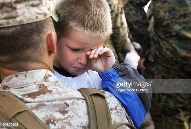 Friends and family say goodbye to Marines in the 3rd Battalion 10th Marine Regiment deploying to Afghanistan in support of Operation Enduring Freedom...