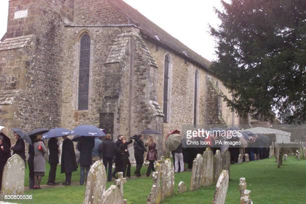 Friends and family turn up for the memorial service of murdered estate agent Timothy Robinson at the Abbey Church Beaulieu in the New Forest The four...