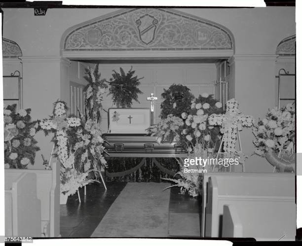 Friends and other mourners file past to pay last respects to the late Hollywood film star Carmen Miranda as her body lies in state in a Hollywood...