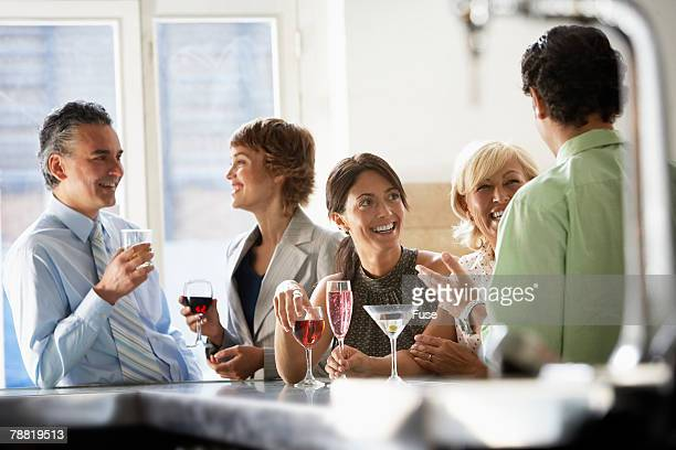 Friends at a Bar