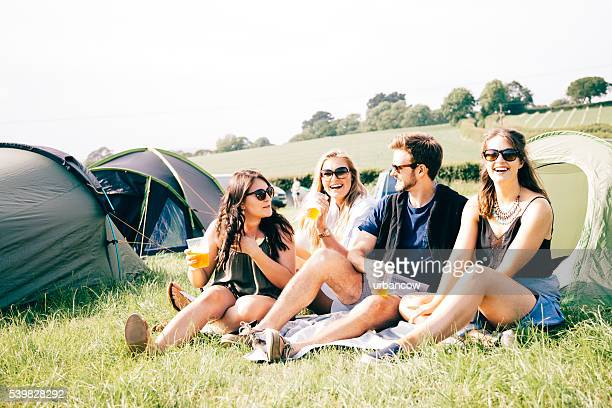 Friends at a festival