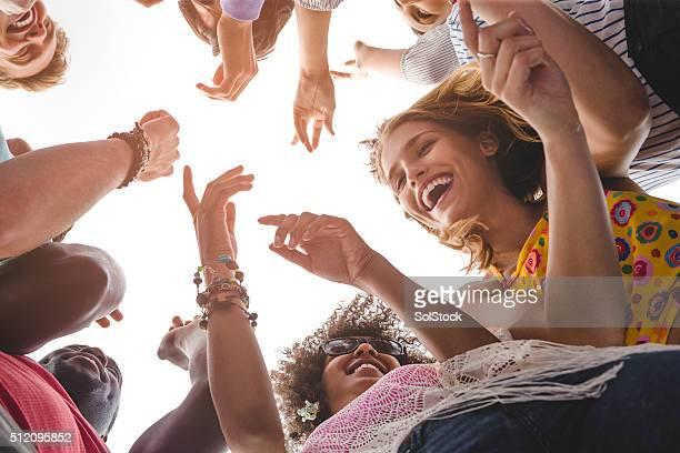 Amis lors d'un Festival de musique