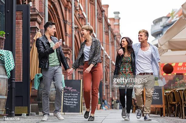 Friends at Berlin's Hackescher Markt