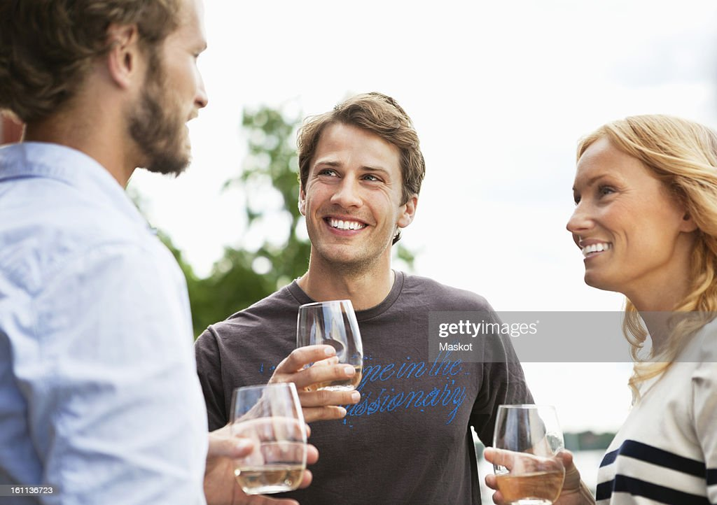 Friends at party : Stock Photo
