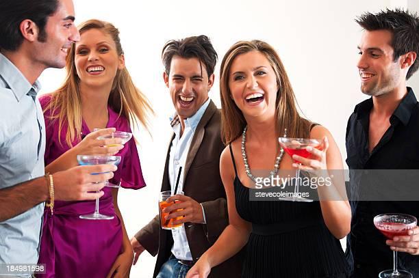 Freunde auf Party