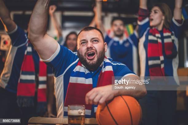 Friends at sport bar