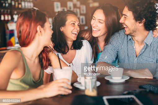 Friends at the cafe : Stockfoto