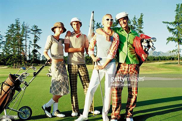 Friends at the golf course