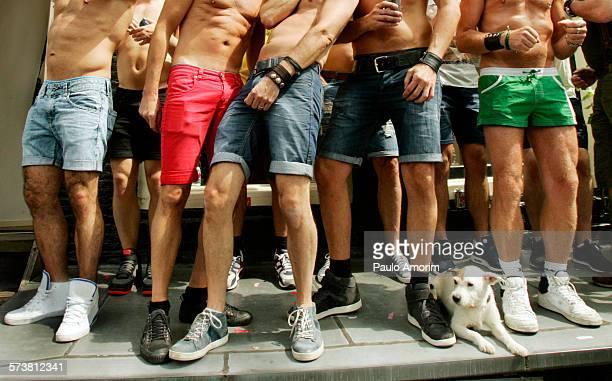 Friends Celebrate at Gay Pride in Amsterdam