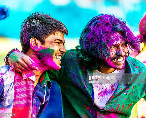 Friends Celebrating Holi Festival