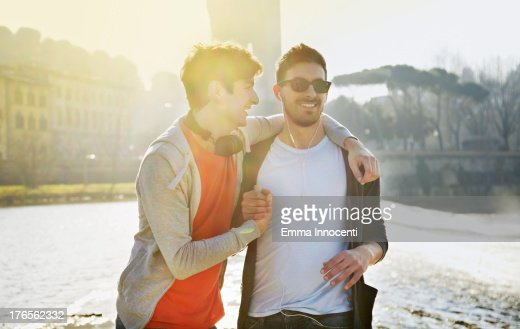 Friends, celebrating, sunset, river bank